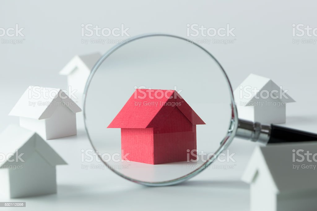 Searching for house stock photo