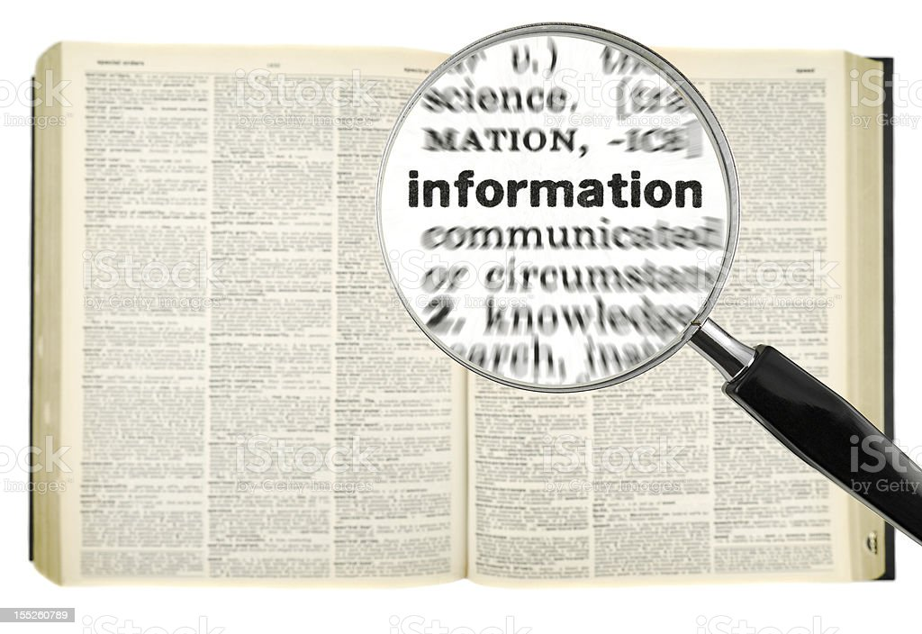 Searching for INFORMATION royalty-free stock photo