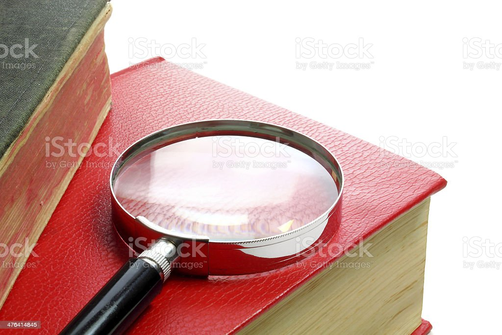Searching for information stock photo