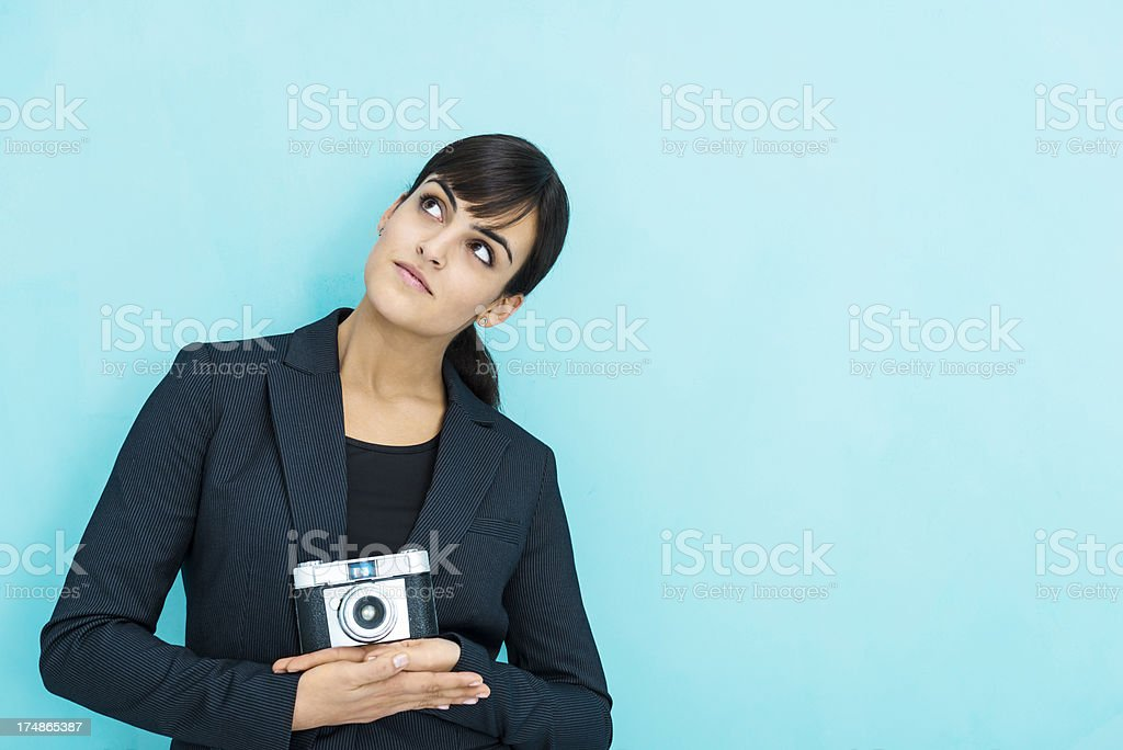 Searching for inspiration royalty-free stock photo