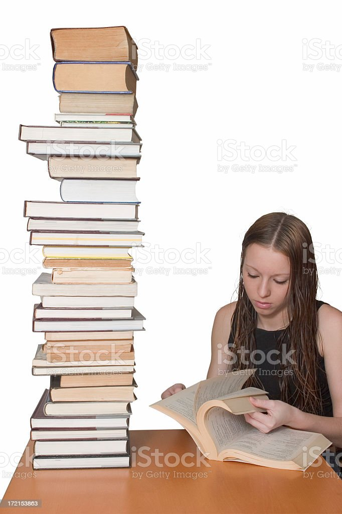 Searching for knowledge royalty-free stock photo