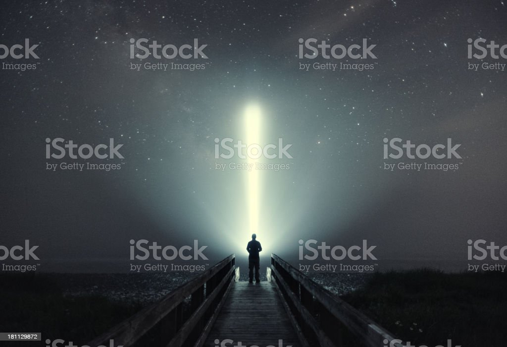Searching for Life stock photo