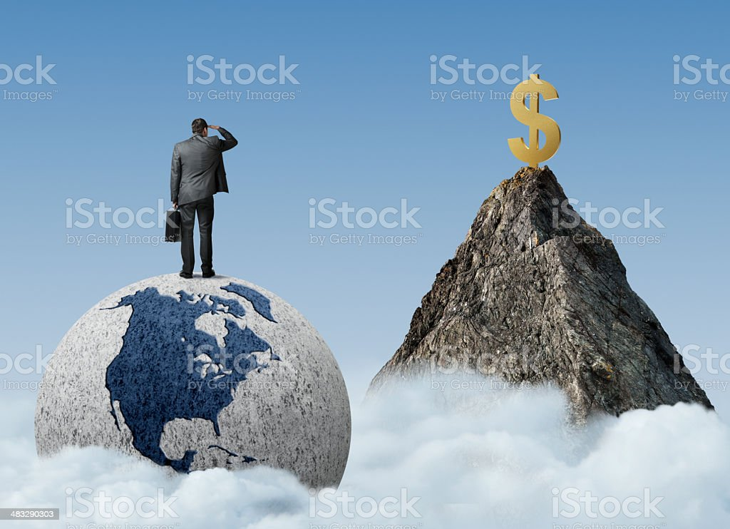 Searching For Money stock photo
