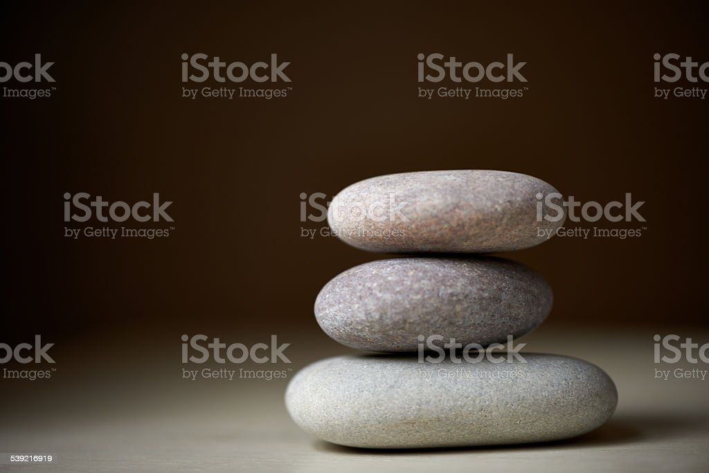 Searching for one's inner balance stock photo