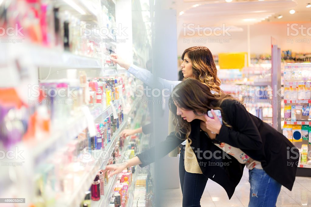 Searching for perfect scent stock photo