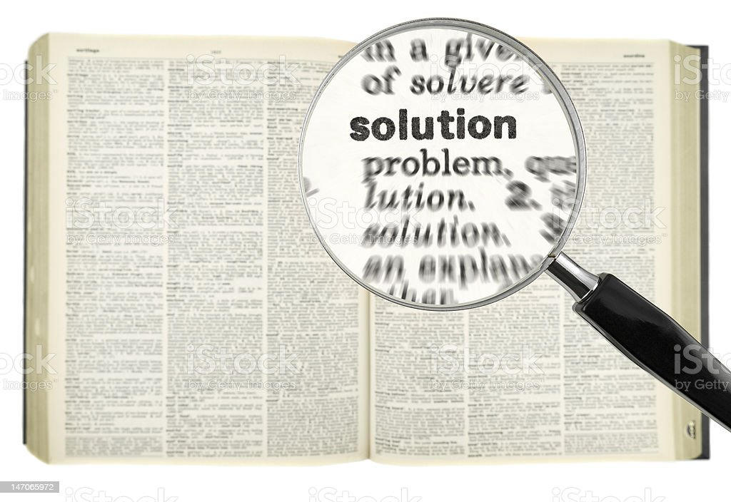 Searching for solution royalty-free stock photo