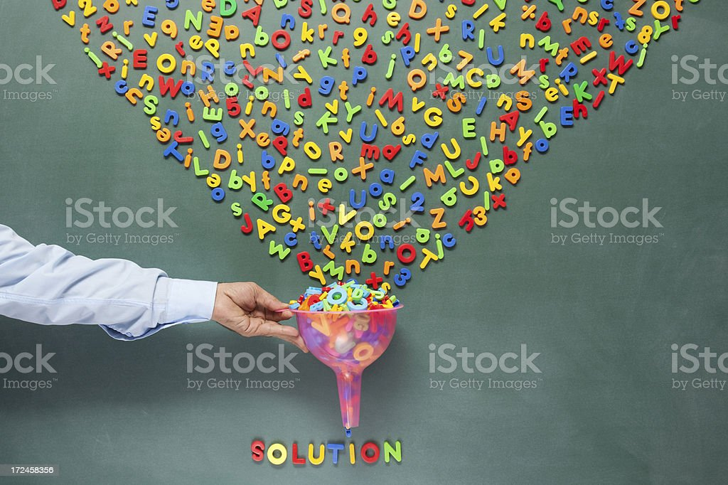 Searching for solution stock photo