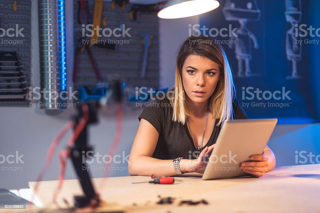 Searching for solutions online stock photo