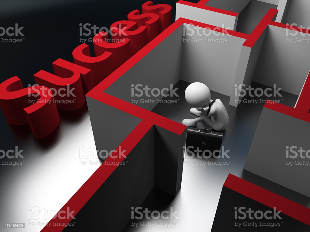 searching for success stock photo