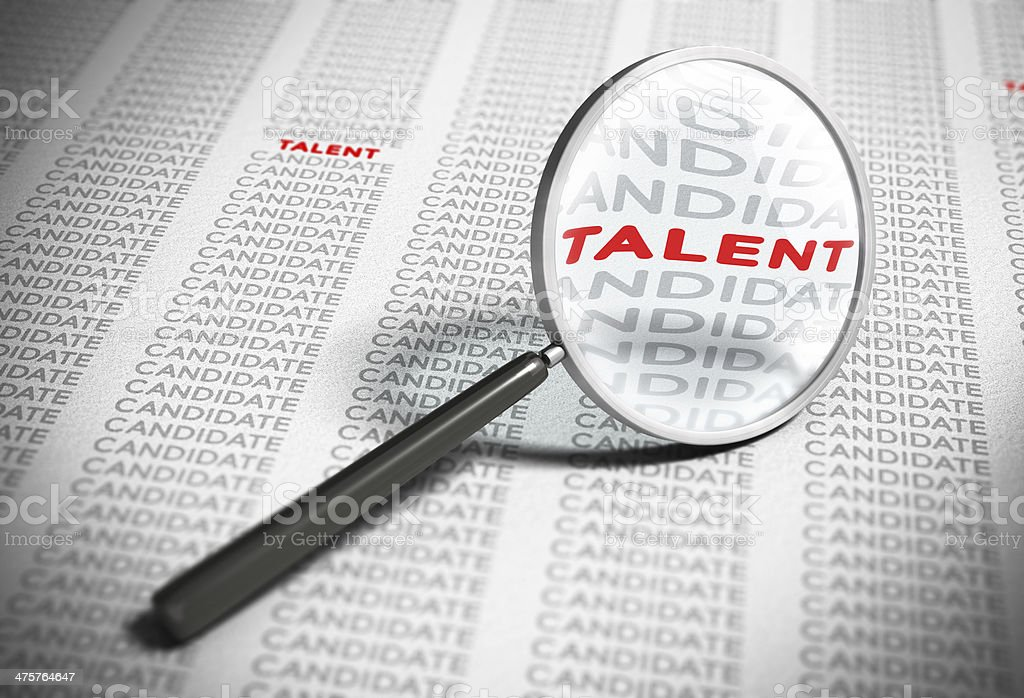 Searching for Talents - Recruitment Concept stock photo