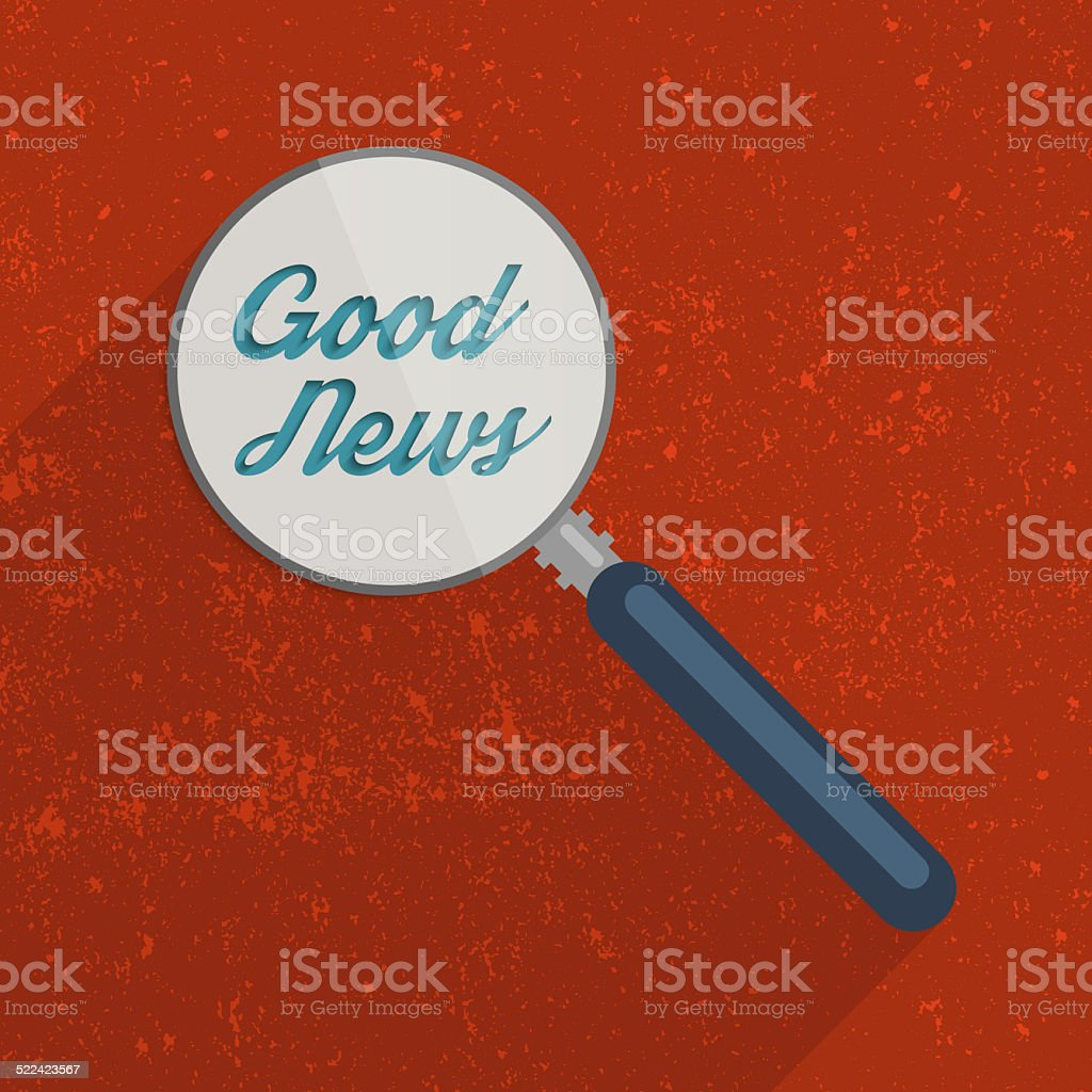 Searching for the Good News stock photo