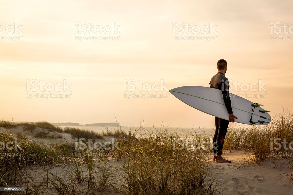 Searching for the swell stock photo