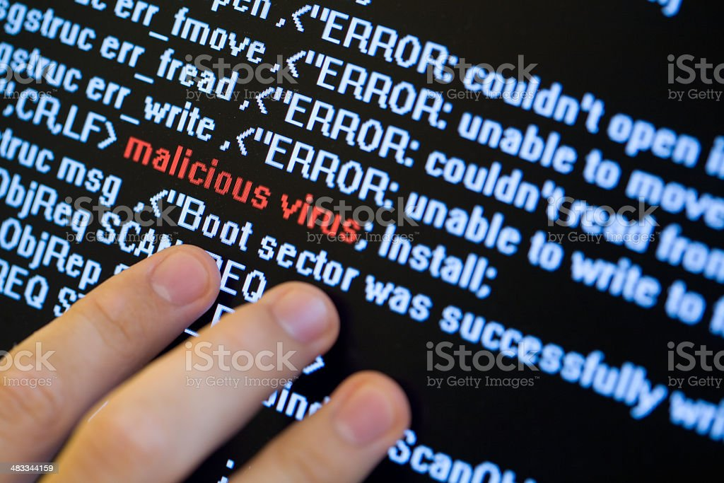 Searching for virus stock photo