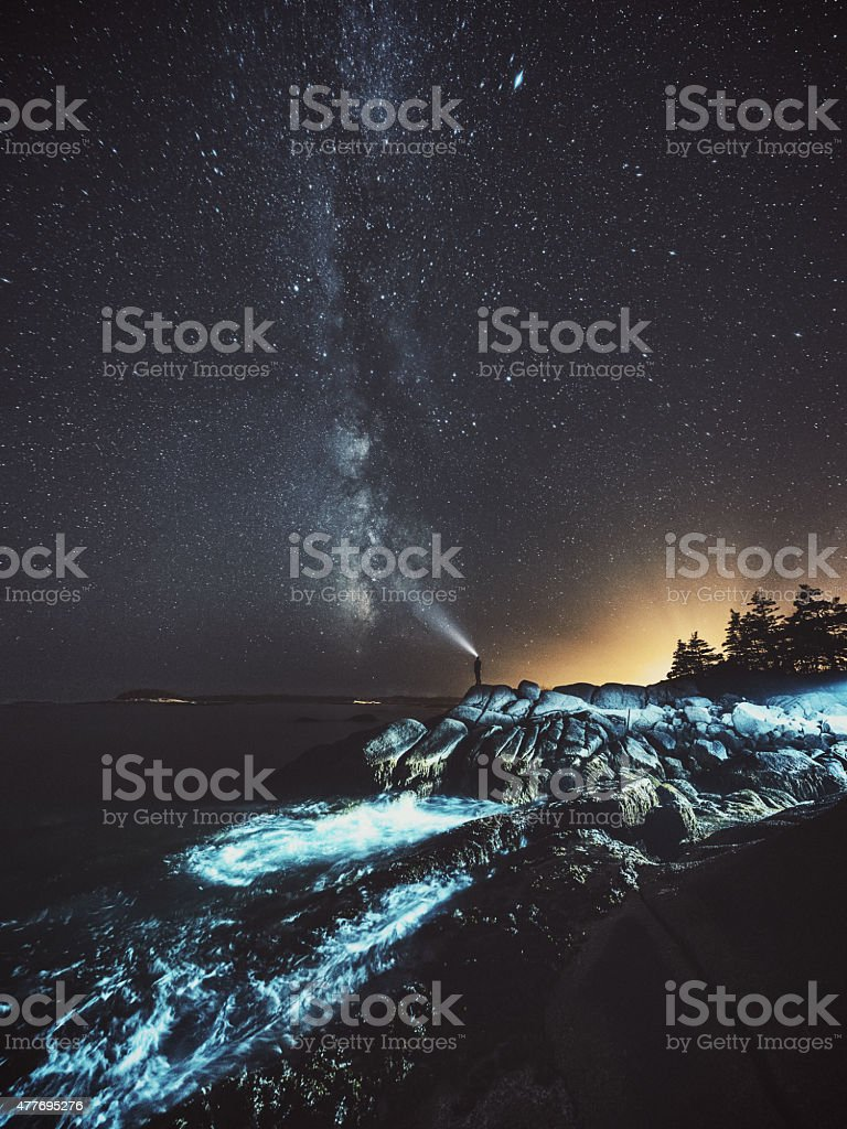 Searching for Wonderlust stock photo