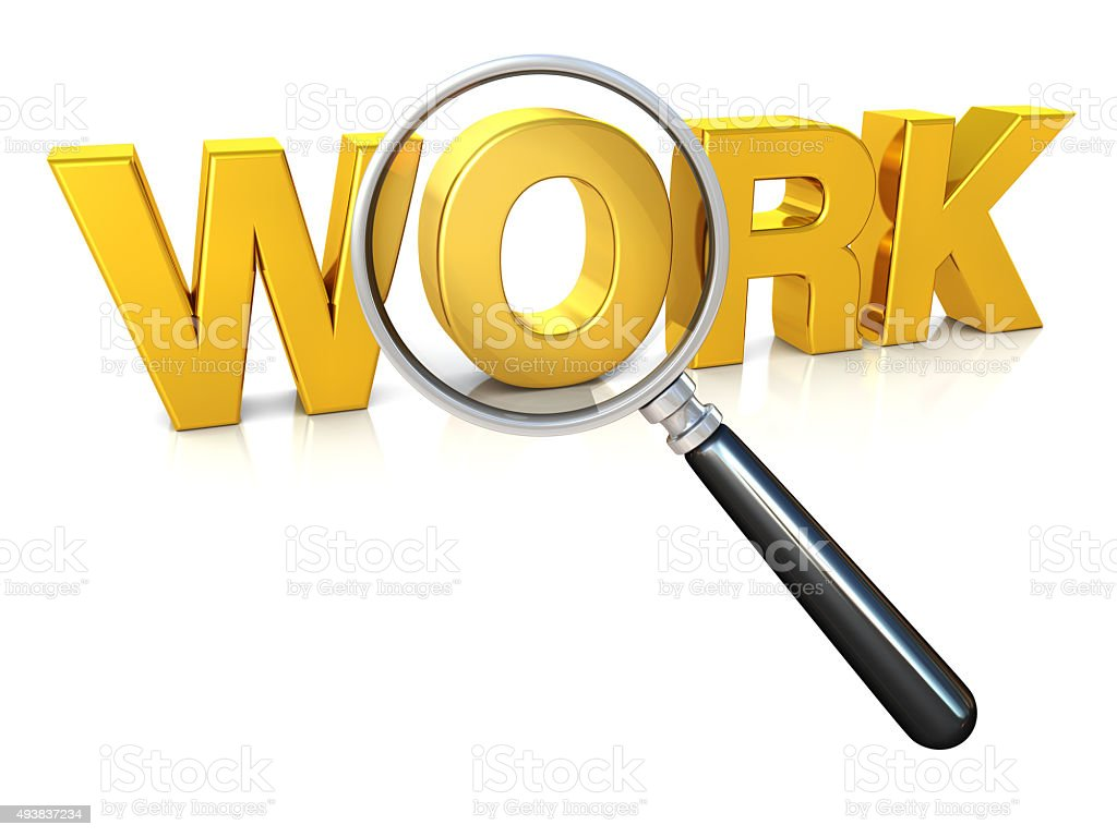 Searching for Work stock photo