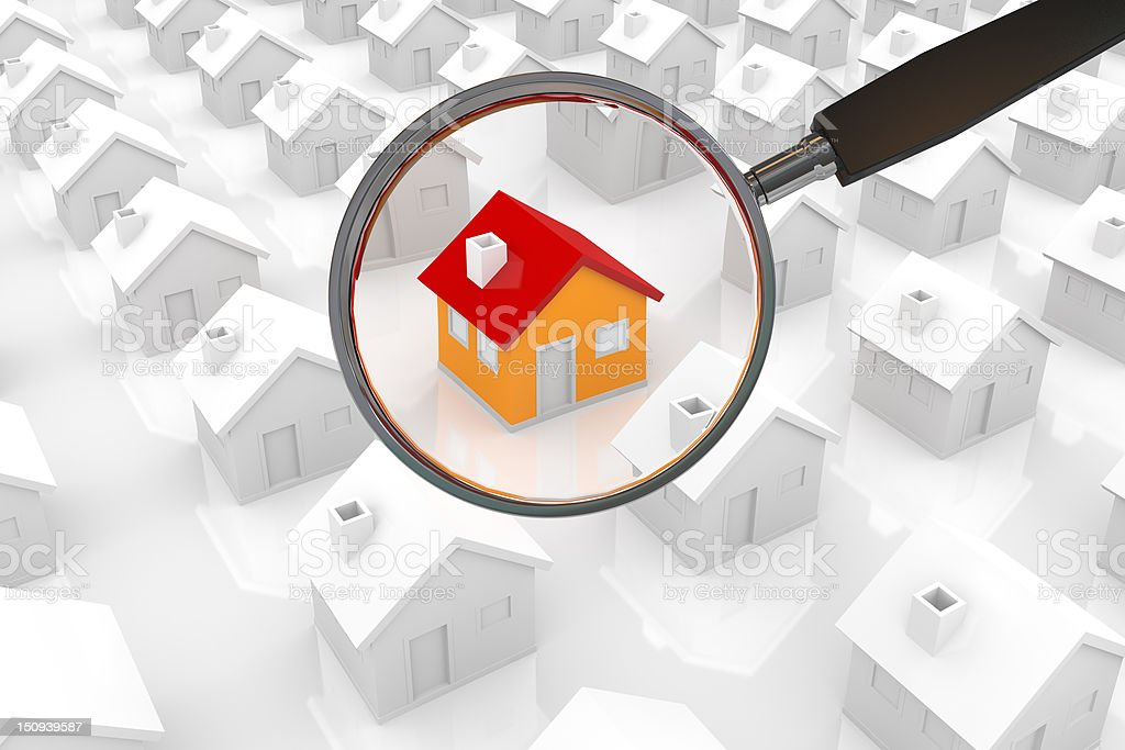 Searching House stock photo