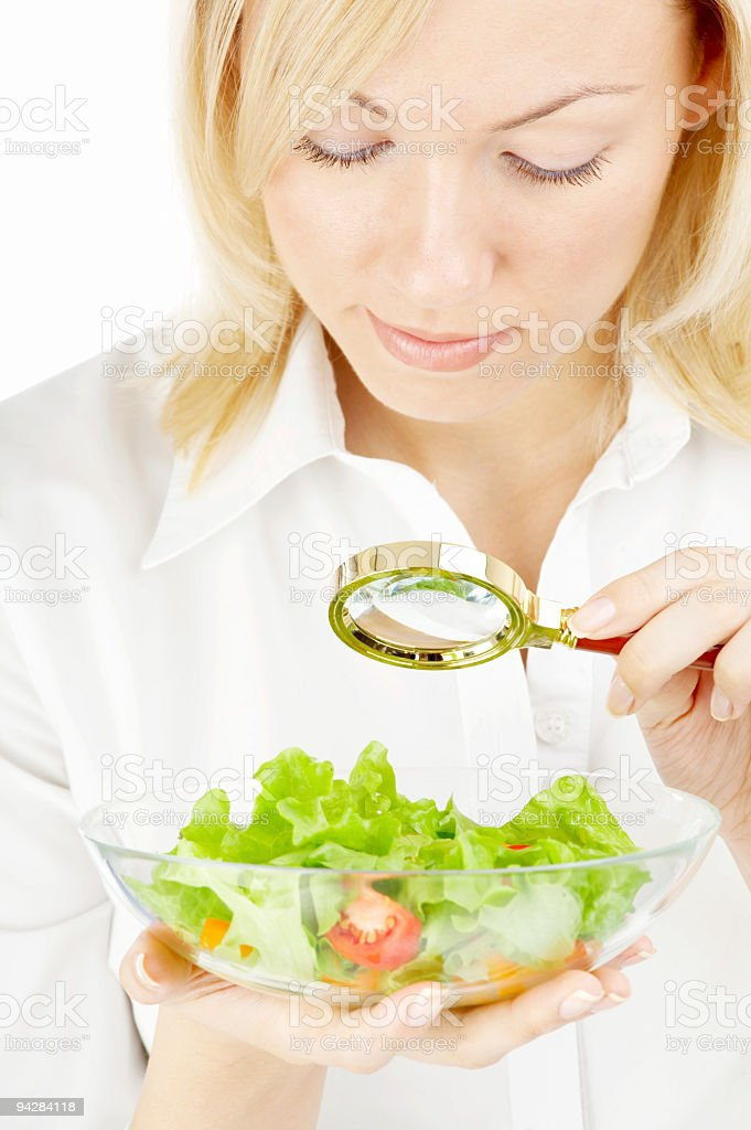 Searching in food stock photo