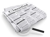 Searching newspaper classified ad