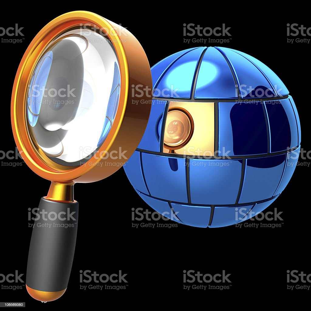 Searching of information data royalty-free stock photo
