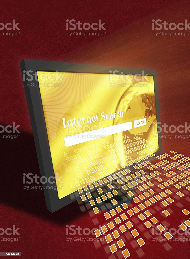 Searching on internet royalty-free stock photo