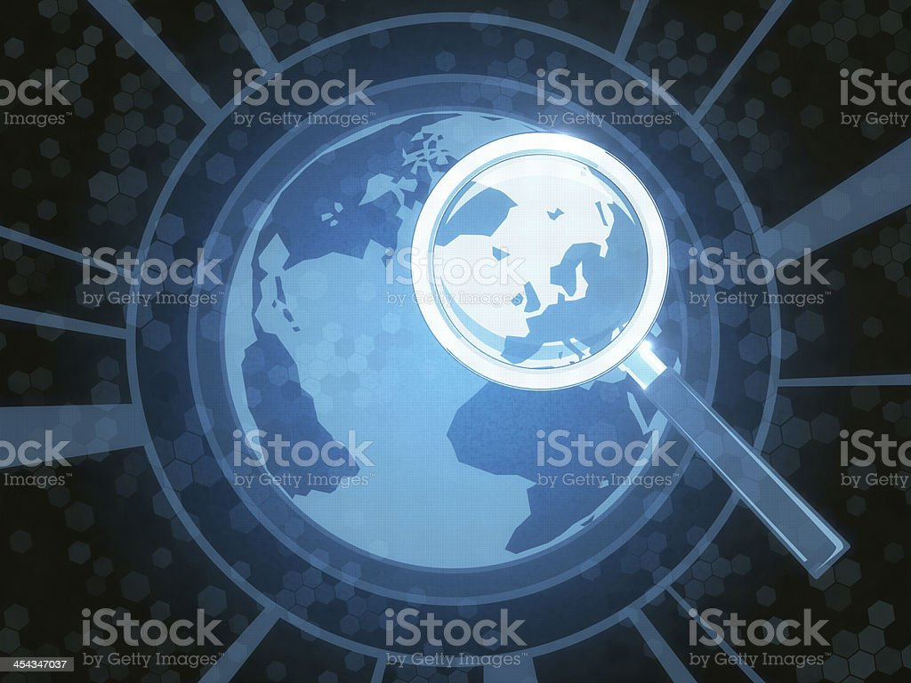 Searching Planet royalty-free stock photo