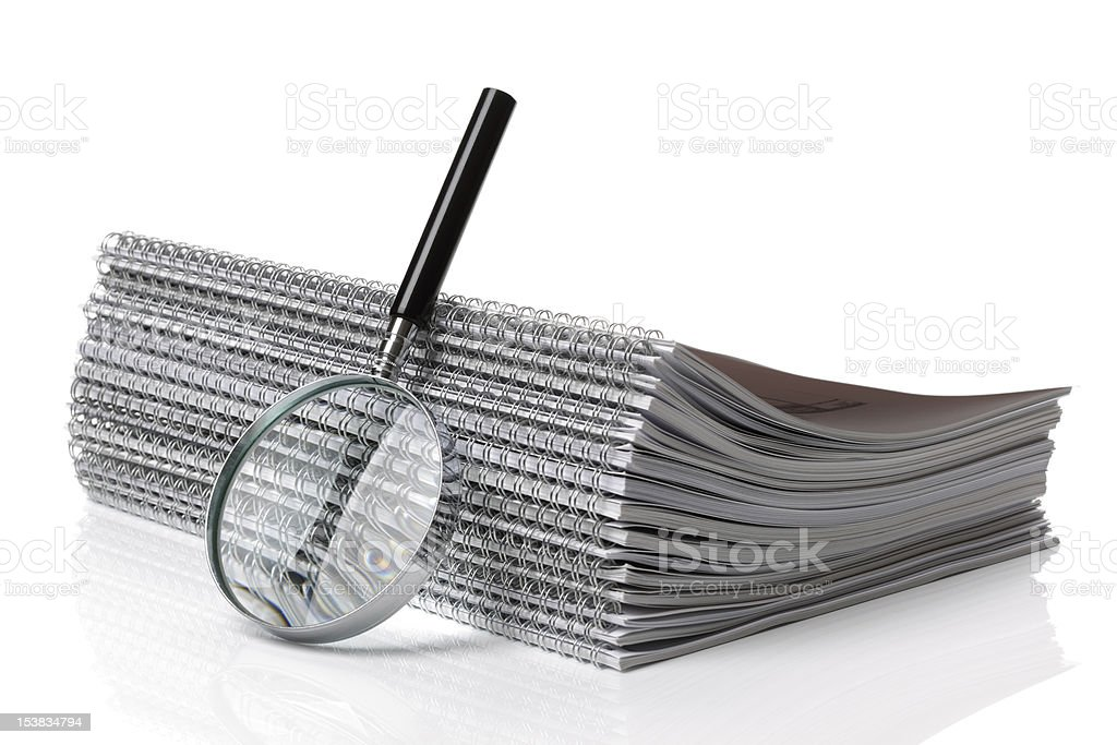 Searching ring binder document royalty-free stock photo