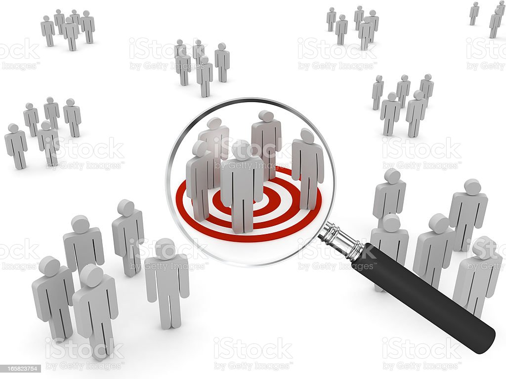 Searching Target Market royalty-free stock photo