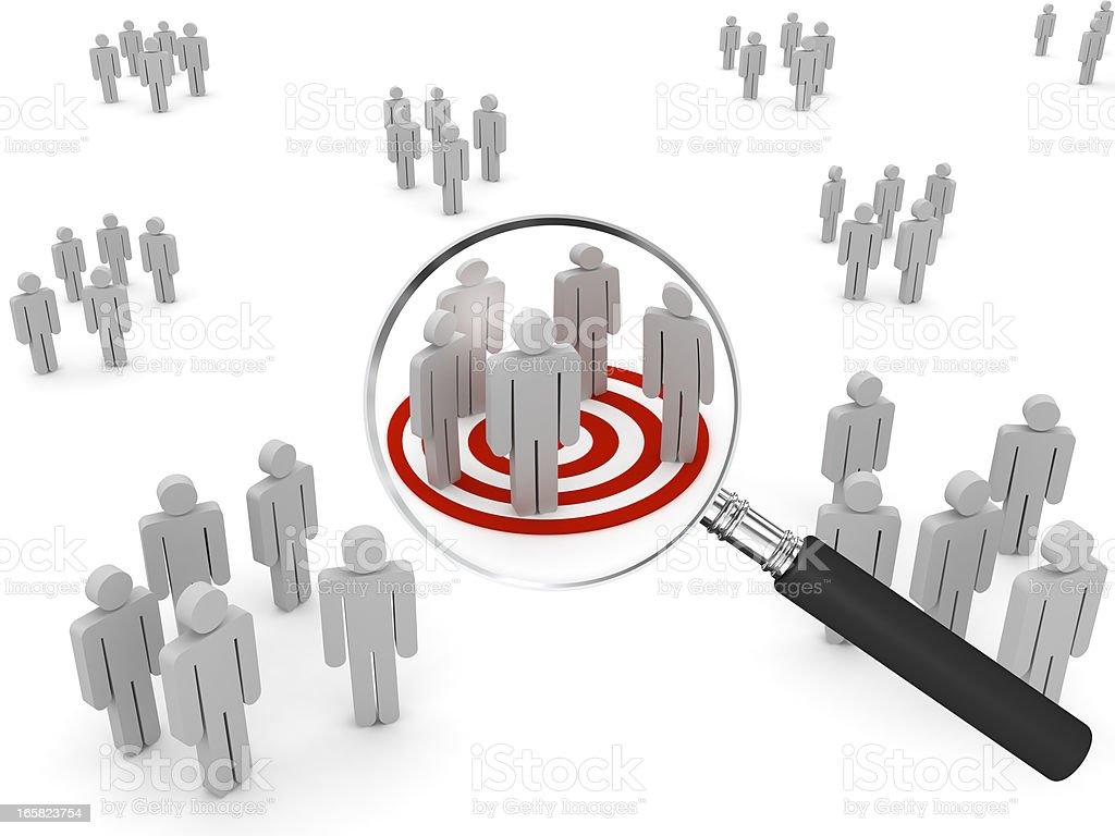 Searching Target Market stock photo