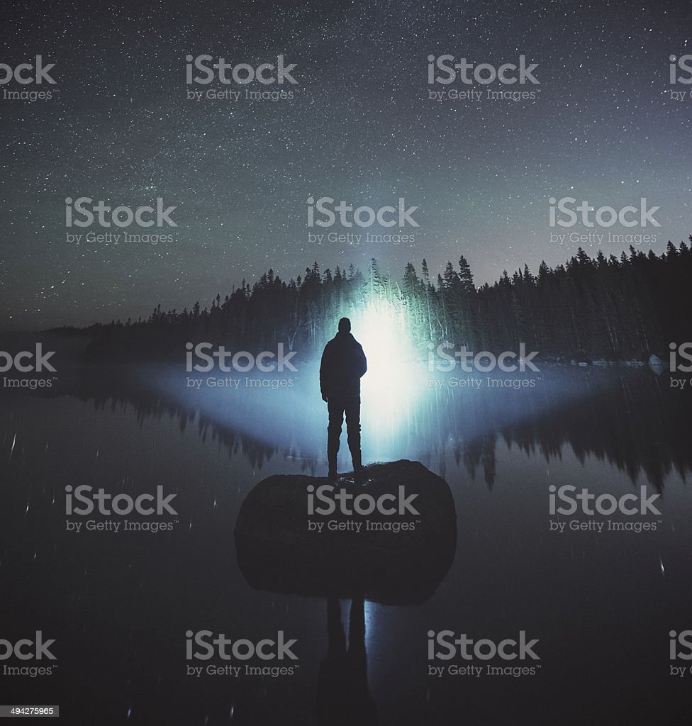Searching the Lake royalty-free stock photo