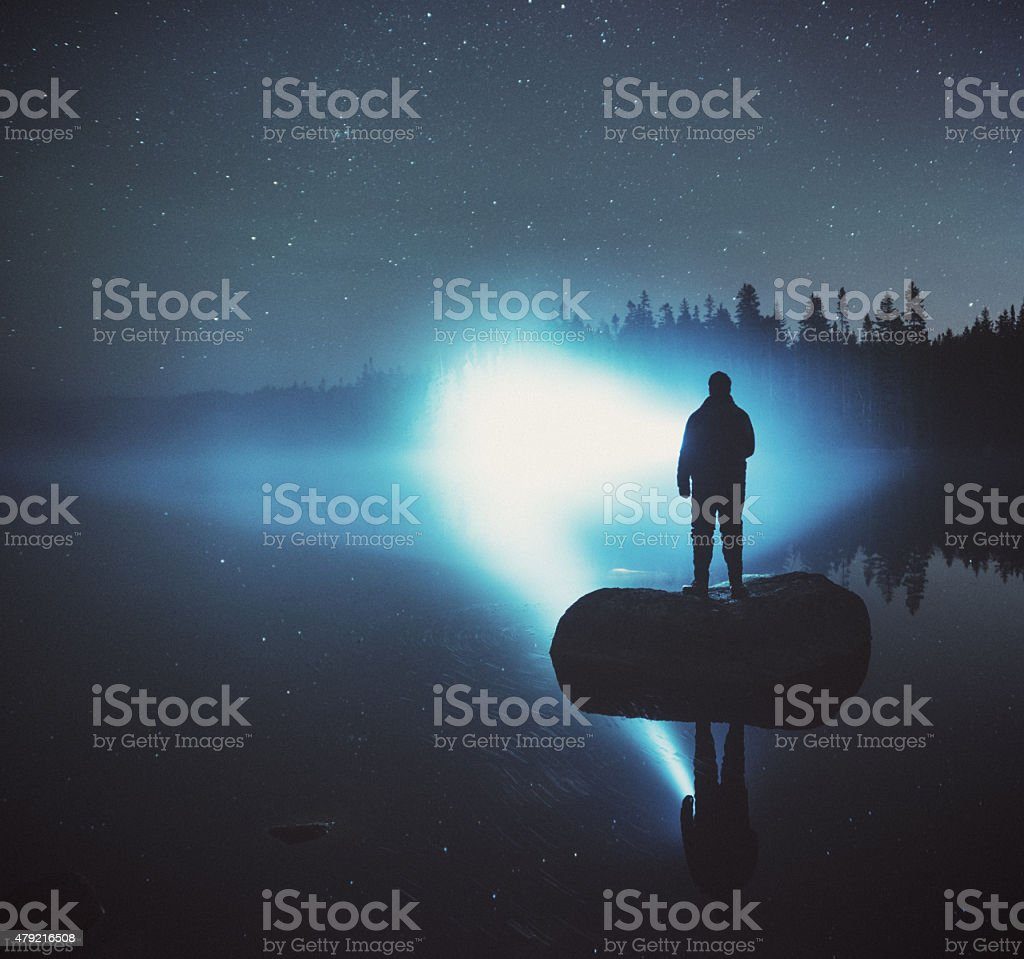 Searching the Nightscape stock photo