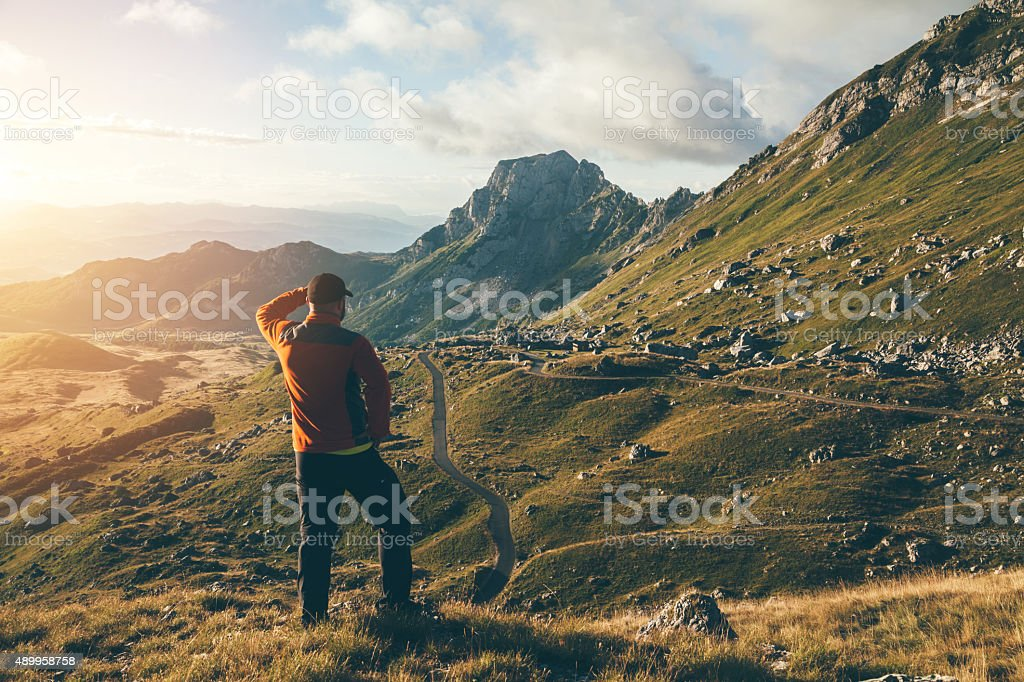 Searching the way. stock photo
