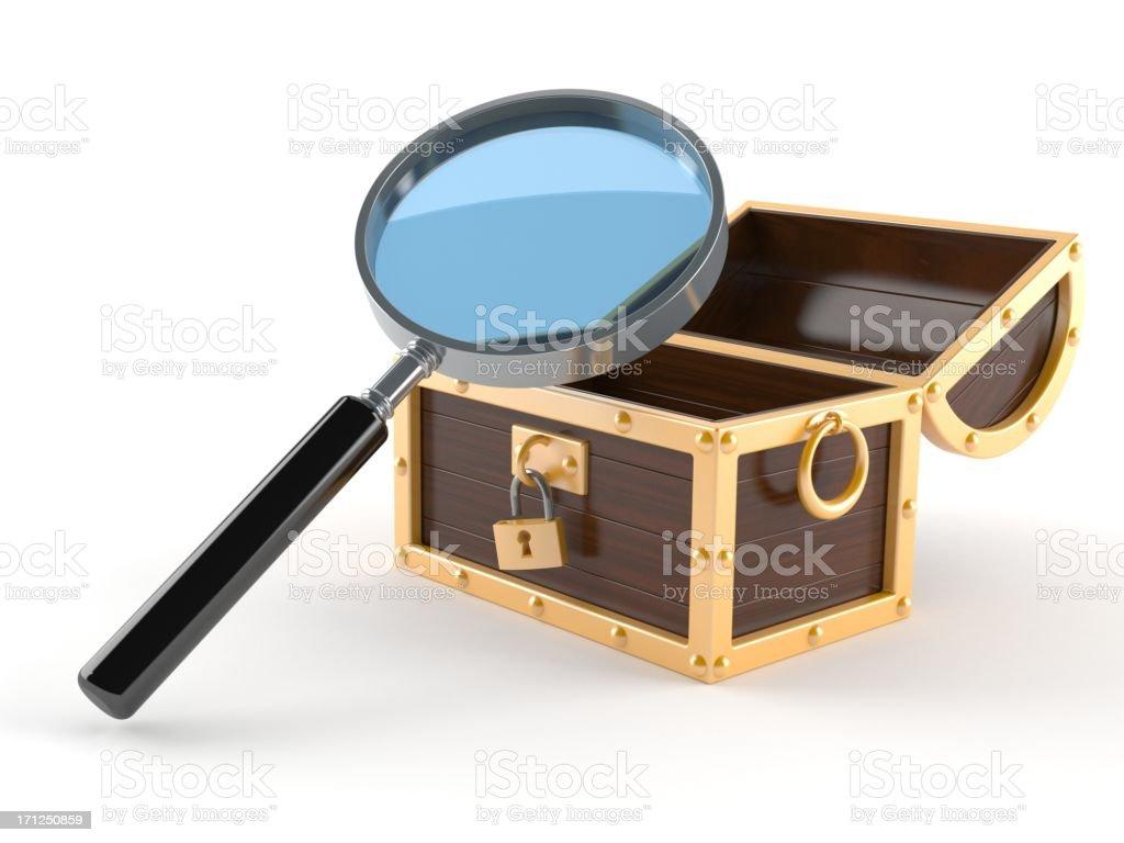 Searching treasure royalty-free stock photo