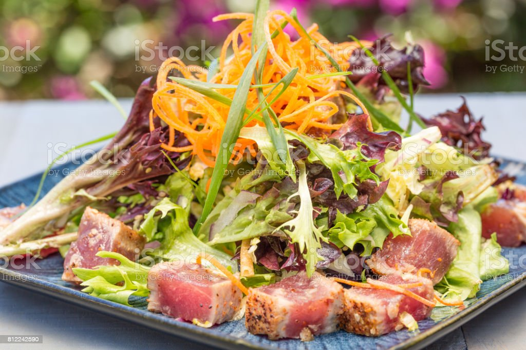 Seared Ahi Salad stock photo