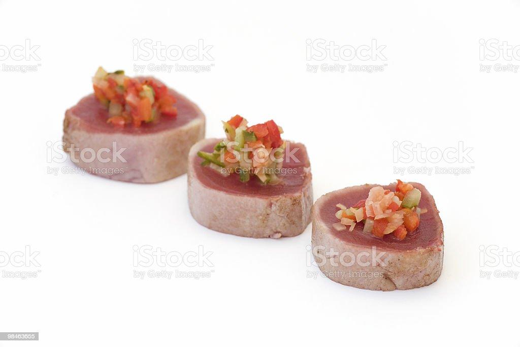 Seared Ahi Tuna appetizer royalty-free stock photo