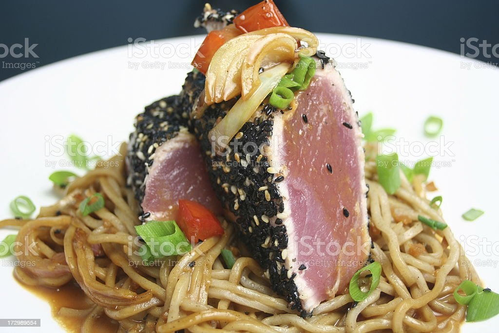 Seared Ahi Tuna royalty-free stock photo