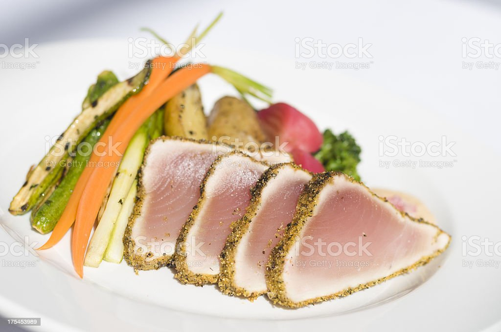 Seared Albacore Tuna stock photo