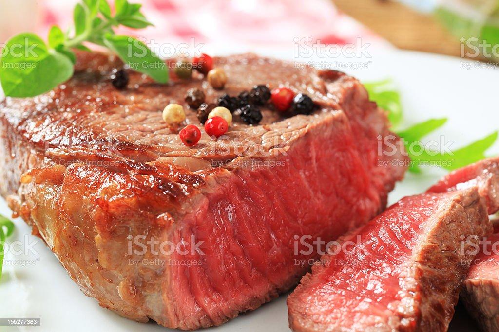 Seared beef steak royalty-free stock photo