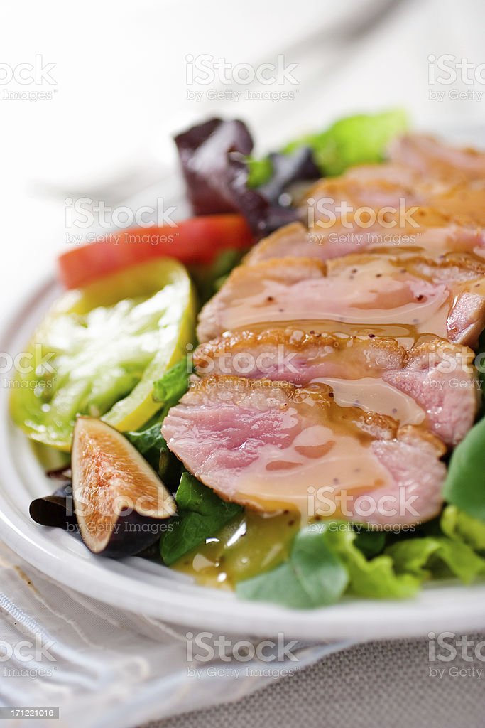 Seared Duck Salad stock photo