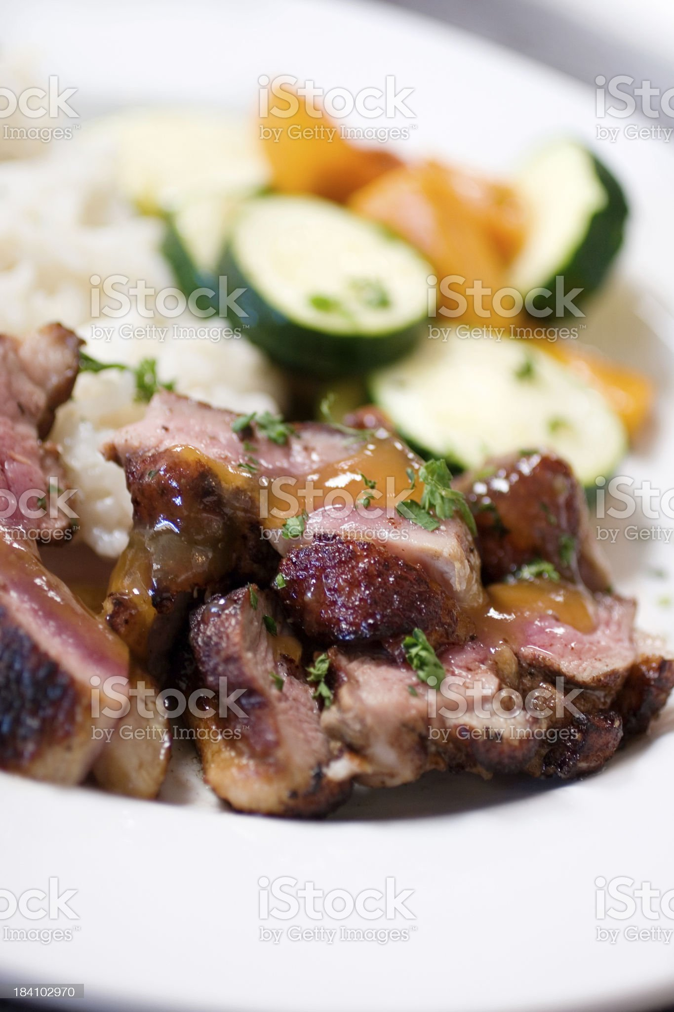 Seared Duck with Plum Sauce royalty-free stock photo