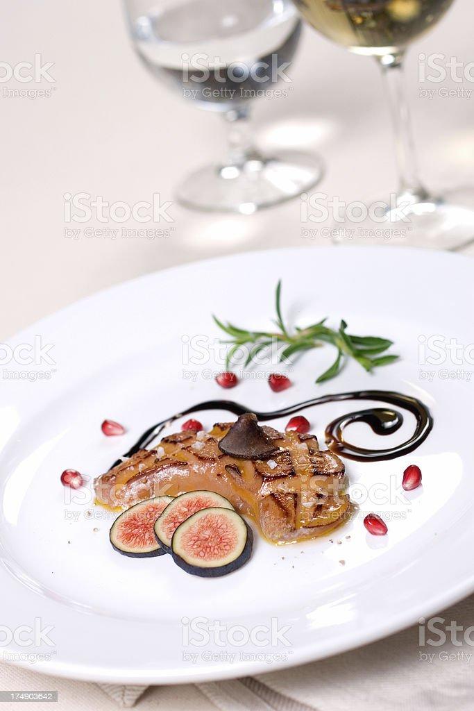 Seared Foie Gras Entree stock photo