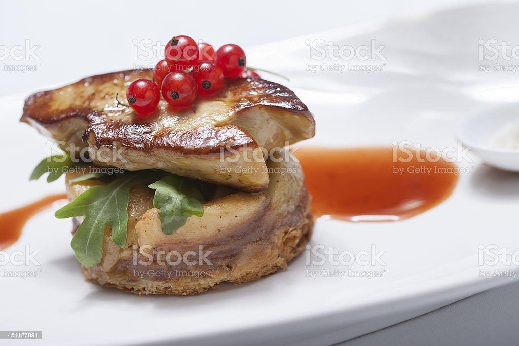 seared foie gras stock photo