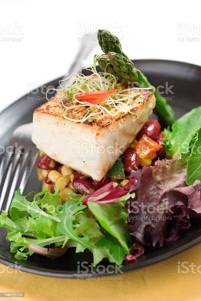 Seared Halibut royalty-free stock photo