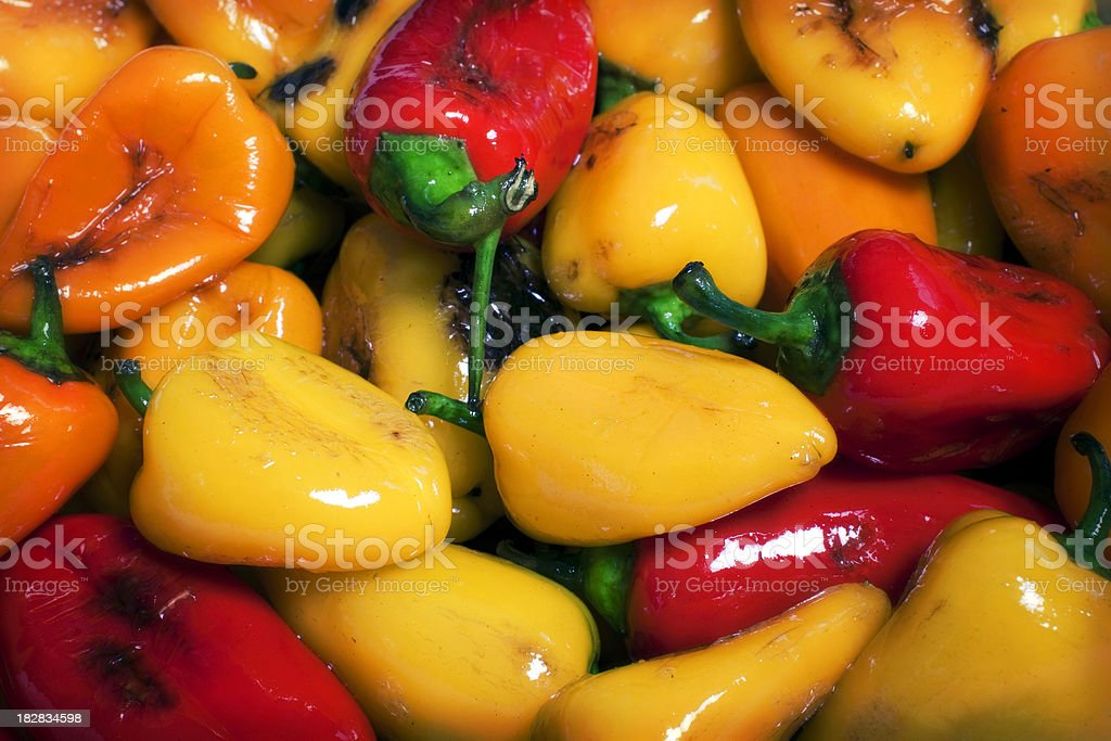 Seared Mini-Peppers Vegetable Background stock photo