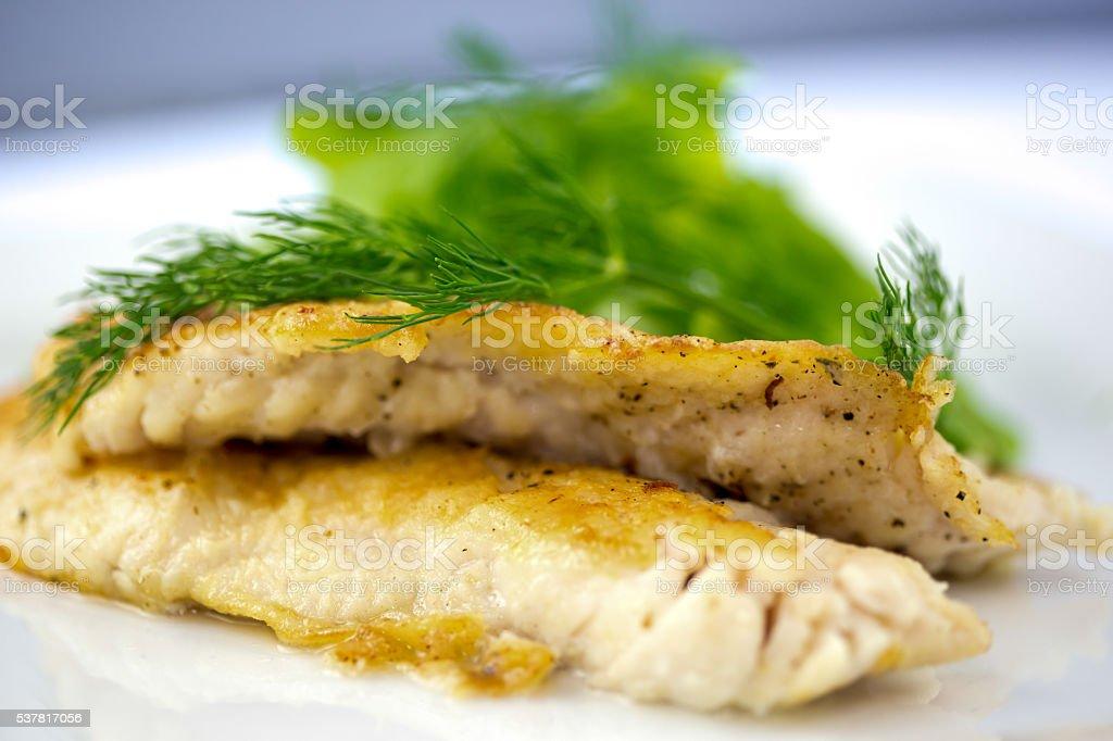 Seared Rock Fish stock photo