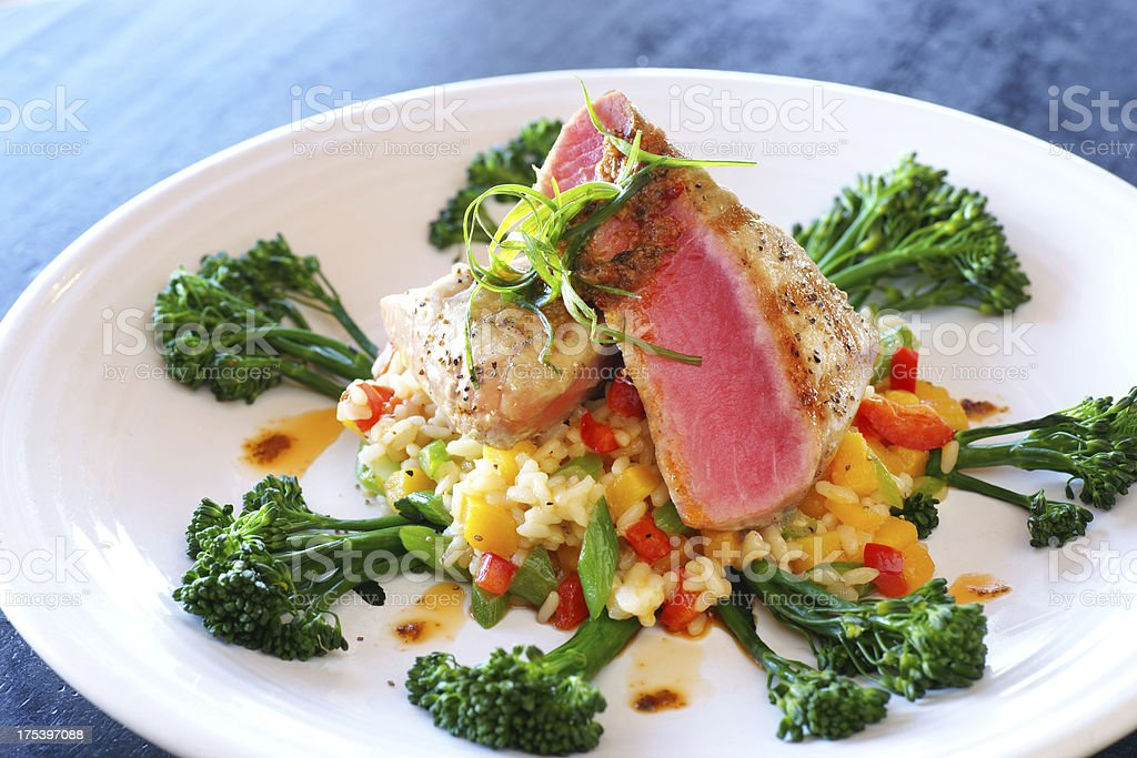 Seared Tuna Filet royalty-free stock photo