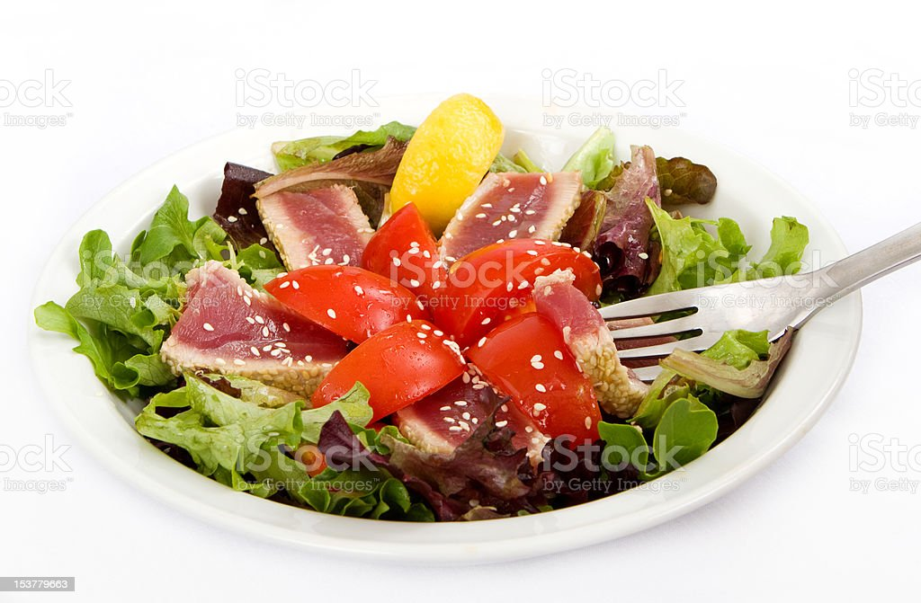 Seared Tuna Green Salad royalty-free stock photo