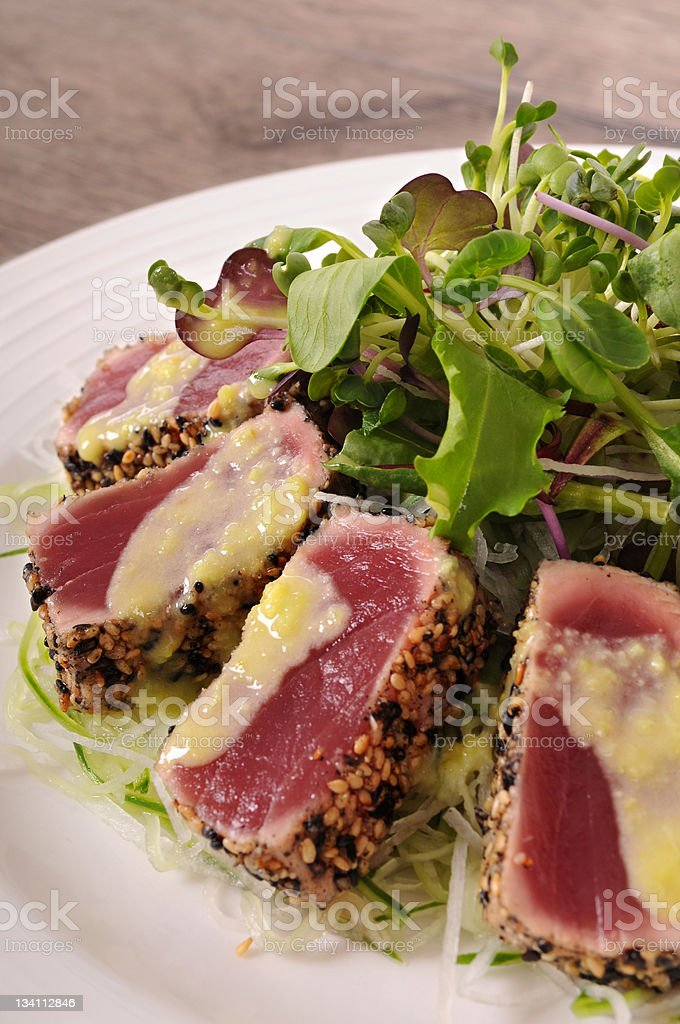 Seared tuna royalty-free stock photo