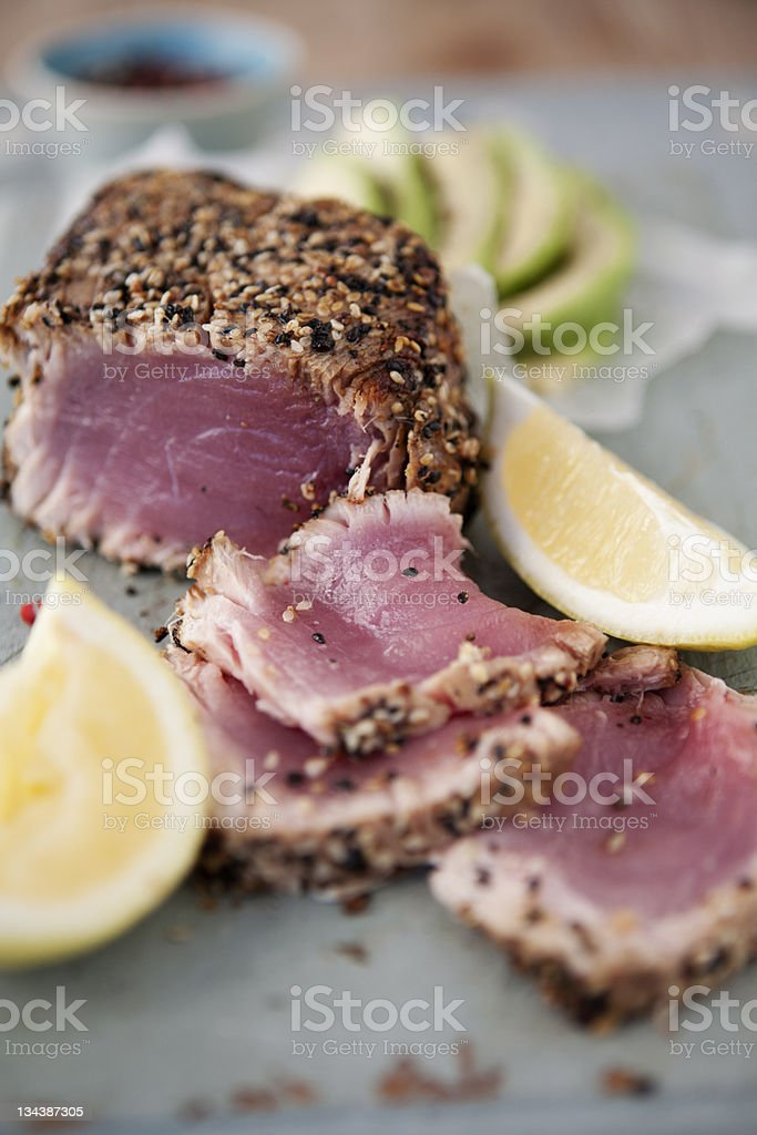 Seared Tuna stock photo