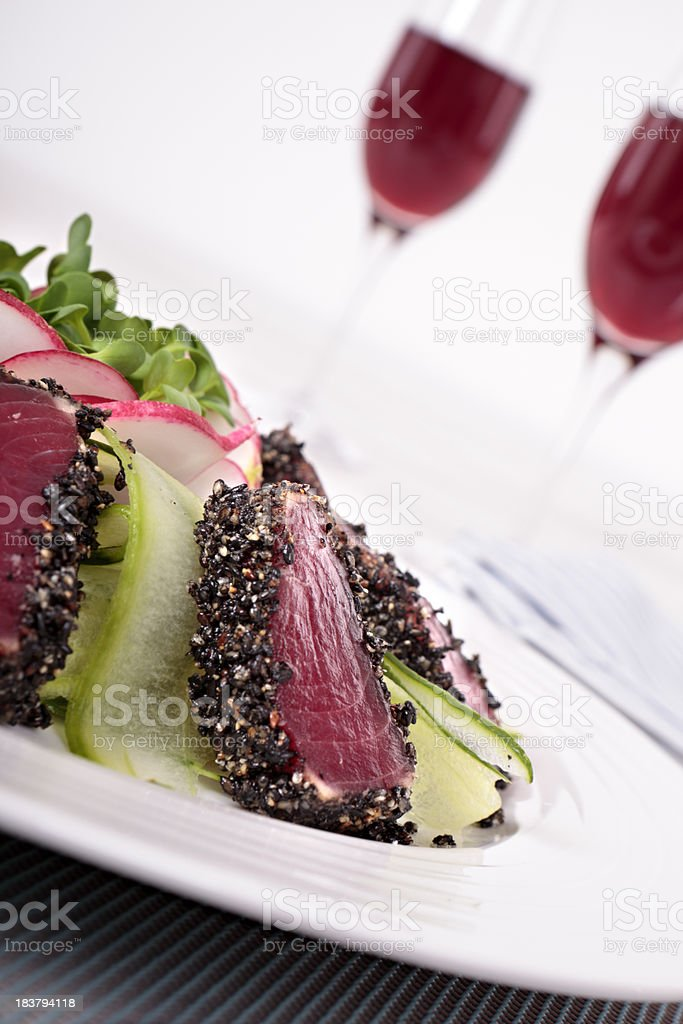 Seared tuna royalty-free stock photo