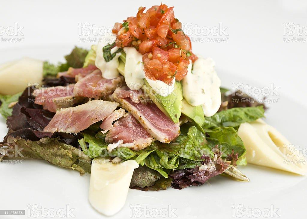 Seared Tuna Salad royalty-free stock photo